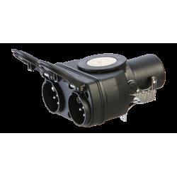 Adapter aus 15P/24V (ISO 12098) auf 2x 7P/24V (ISO 1185 + ISO 3731)
