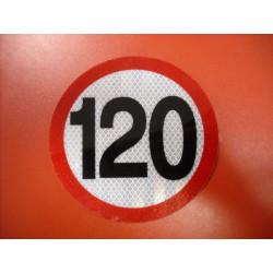 Geschwindigkeitsaufkleber Schild 120 km/h